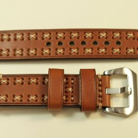 Tali Jam Tangan Kulit Coklat - Brown Leather Strap X Cross 22MM