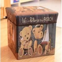 Storage box BEAR/Tempat Mainan / Majalah /kursi organizer