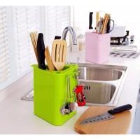 Rak dapur serbaguna / tempat pisau garpu sendok dapur jadi lebih rap