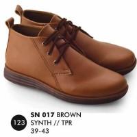 Boots Pria SN 017 Coklat