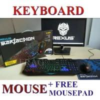 Paket Keyboard Mouse Mousepad Rexus Warfaction Vr1 / Vr 1