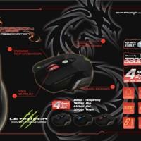 Mouse - Dragonwar Gaming - LEVIATHAN LASER GAMING MOUSE + GAMEMAT