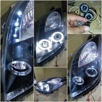 Headlamp Yaris 05-08 Black Limited