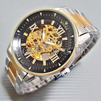 Special Special Jam Tangan Pria / Cowo Matic Rolex Big Size Skeleton R