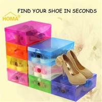 Domz Kotak Sepatu Shoe Shoes Box Plastik Transparan Rack Rak Promo
