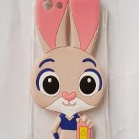 Oppo F1S A59 Softcase Transparan Silicon 3D Kartun Bunny Casing Hp