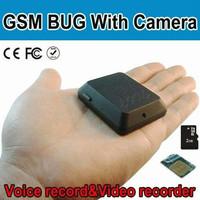 GSM Bug cam audio video spy camera kamera alat sadap hidden kamera X-0