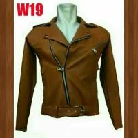 jaket kulit blazer wanita untuk bermotor nyantai W19