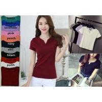 Kaos Polos OVNeck | Basic Tshirt OVNeck