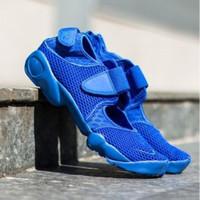 Nike Air Rift Full Blue Sneakers Pria Sepatu Jalan PREMIUM