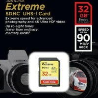 SanDisk SD Card / SDHC Extreme 32GB 90Mb / S SD Card ORIGINAL
