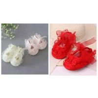 sepatu prewalker newborn bayi anak perempuan shoes