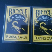 Kartu Remi Bicycle Black Scorpion Deck