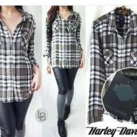 harga Baju Branded Murah Harley Davidson Khaki Plaid Kemeja Original Premium Tokopedia.com