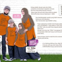 Kaos dhikr family : DF57A xxl, DF 58A S, DF58A size 6 DF58 A size 8