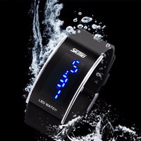 Jam LED Gelang SKMEI Silicon Wristband LED Watch Water Resistant E6N0