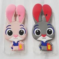 Samsung J5 Prime Softcase Transparan Silicon 3D Kartun Bunny Casing Hp