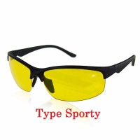 Kacamata Sport Nightvision Sunglasses View Malam Safety Night Vision