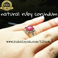 Cincin Ruby Asli Natural Murah Meriah