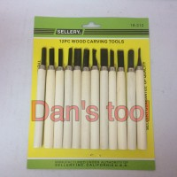 Pisau Ukir SELLERY / Wood Carving Tool SELLERY 12 Pcs 18-212