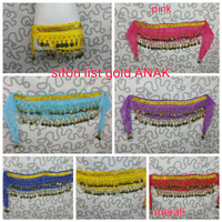 belly dance belt sifon anak fitness zumba yoga aerobik senam