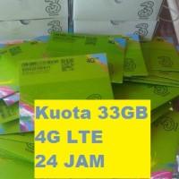 Jual kartu perdana internet tri three 3 aon 33gb 3gb + 30gb 4g lte 3 gb 24 Murah