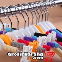 Hanger Busa Jepit Gantungan Baju Anak Warna Perlengkapan Toko