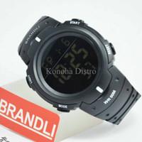 Jam Tangan Brandli 368 Black Original