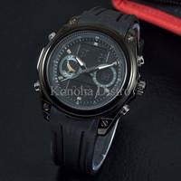 Jam Tangan Pria / Cowok Lasebo Lb300 Original Rubber Black