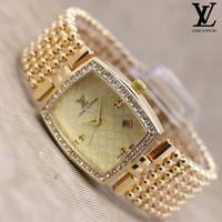 Jam Tangan Wanita / Cewek Louis Vuitton Lv021 Full Gold