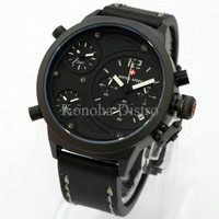 Jam Tangan Pria / Cowok Swiss Army Triple Time Leather Black List Whit