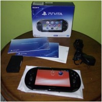 PS Vita Slim 2006 Black Original Sony 3.60 Bajakan + 32gb