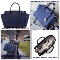 Tas ORI Michael Kors MK Selma Large Saffiano Leather - Biru Navy