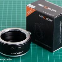 K&F Adapter Pentax K Lens / PK to Sony Mirrorless