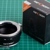 K&F Adapter Pentax K Lens / PK to Fuji Mirrorless