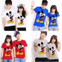 Mickey YES (putih, abu, biru, merah),kartun,kaos,oblong, couple,