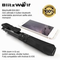 Jual BlitzWolf BW-BS1 Bluetooth Selfie Stick Tongsis Samsung iPhone GoPro Murah