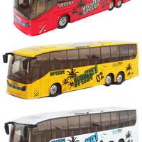 Diecast Miniatur Replika Bus Warna Kuning | Om Telolet Om | Bus Mania