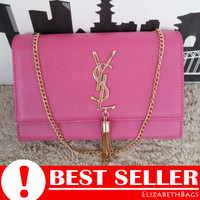 a7c6297b84 Tas Wanita Selempang Branded YSL Tassel Clutch Pink Fanta