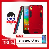 Case Lenovo A7000 Ironman ( Armor Shield ) Free Tempered Glass