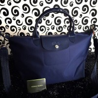 Longchamp Le Pliage No MEDIUM NAVY BLUE BIRU TUA TAS BRANDED IMPORT