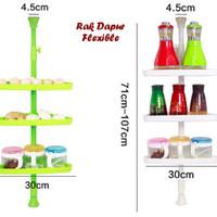 Rak Dapur Flexible model SUDUT (Bisa dipanjangkan)