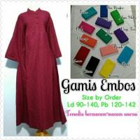Gamis Embos Jumbo / Super Jumbo / Gamis Bigsize
