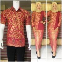 harga Baju Couple Muslim | Baju Pasangan Muslim Bsg565 Merah Tokopedia.com