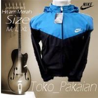 Jaket Parasut Nike Turkis Hitam Parasit