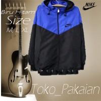 Jaket Parasit Nike Windrunner Biru Hitam