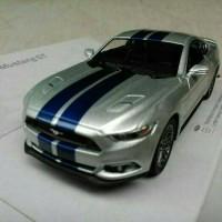 Ford Mustang GT Silver garis diecast kinsmart mobil miniatur