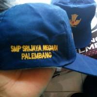 Topi SMP Bordir logo tutwuri + identitas sekolah