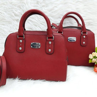 Michel Kors small satchel red