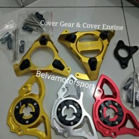 Cover Engine/Cover Gear Yamaha R15, Xabre, Mx King, Vixion 1 Paket